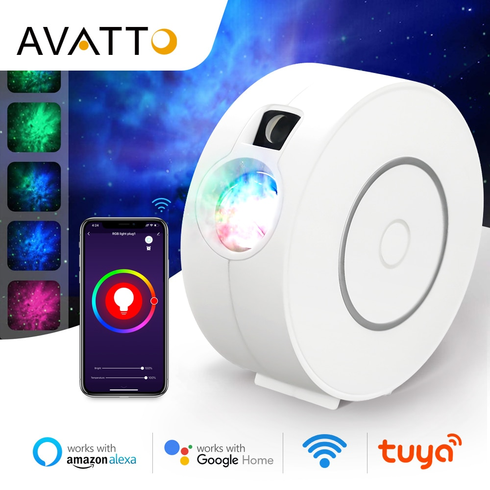 AVATTO-جهاز عرض نجمة Smart ، جهاز عرض ليزر ملون ، سماء مرصعة بالنجوم ، تطبيق Smart Life ، WiFi ، سديم 2020 ، هدية الكريسماس