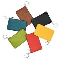 women genuine leather coin purse ladies handbag small money bag zipper vintage female short wallet mini key card holder bags