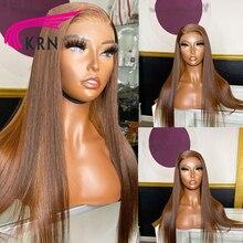 KRN 13x6 spitze vorne perücke Highlight Ombre Blonde Menschliches Haar Perücken Pre Gezupft Perücke Remy Haar mit baby haar