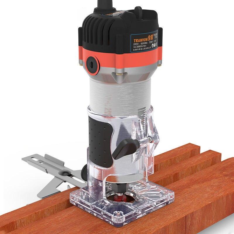 Электрический фрезерный станок по дереву, ручной резной станок, деревообрабатывающий триммер, 220 В, 720 Вт, фрезерный гравировальный станок, ф...