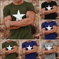 men t shirt five pointed star pokemon gym harajuku summer gym clothing mens graphic t shirt camisetas de hombres undershirts