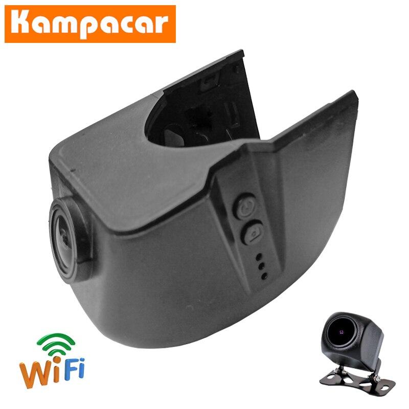 Kampacar Dashcam AD02-D para Audi A1 A3 A4 b7 b8 A5 A6 c5 c6 c7 c6 4f A7 A8 Q3 Q5 Q7 TT mk2 techo negro 2006 a 2014 Wifi coche Dvr
