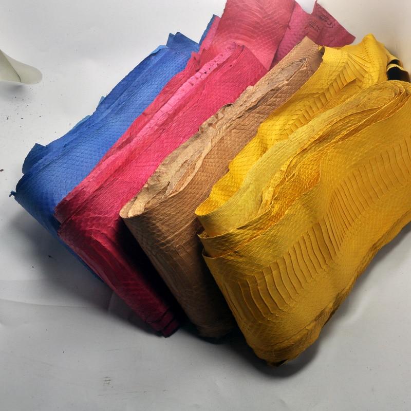 DIY, 17 colores, tela de piel de serpiente Natural con herramientas de cuero de artesanía, piel rara 80x10cm-140X15cm