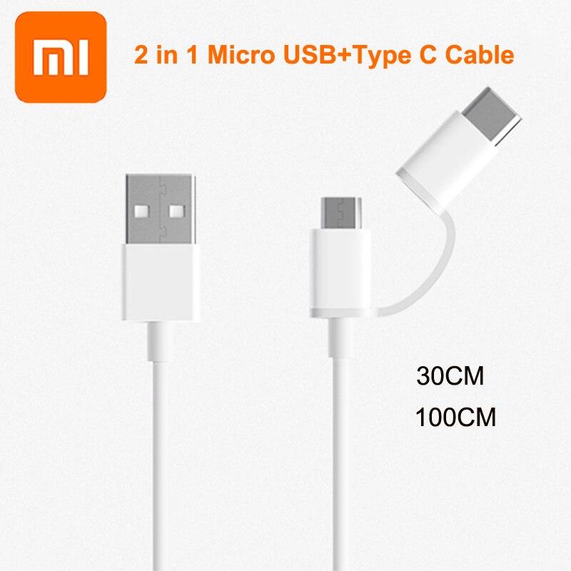 Original Xiaomi 2 en 1 Cable de tipo C Cable USB a...