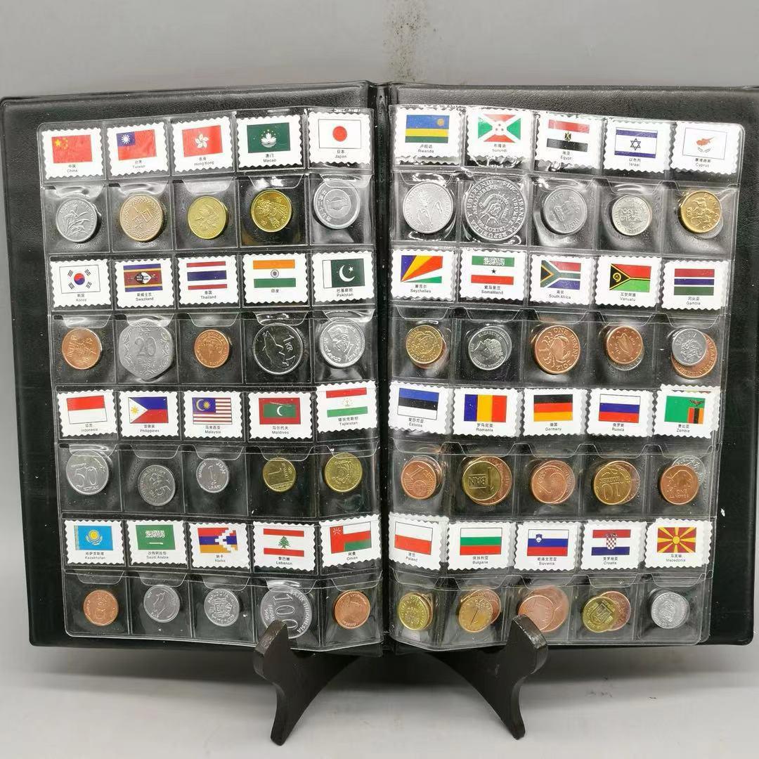 Набор из 60 монет из 60 разных стран, оригинальные монеты UNC, коллекция настоящих монет, мировая Африка, Азия, Америка, евро