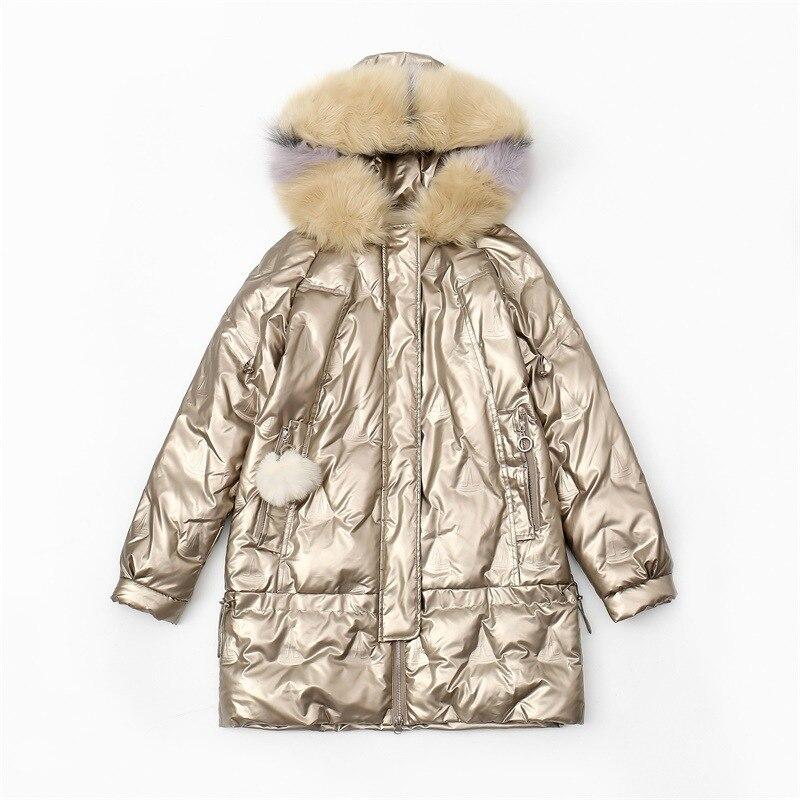 Пальто женское с искусственным мехом и капюшоном, теплая приталенная парка с длинным рукавом, однотонная водонепроницаемая и ветрозащитна...