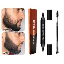 1 Set Men Fashion Beard Makeup Enhancer Waterproof Moustache Black Beard Filler Tools Anti Hair Loss