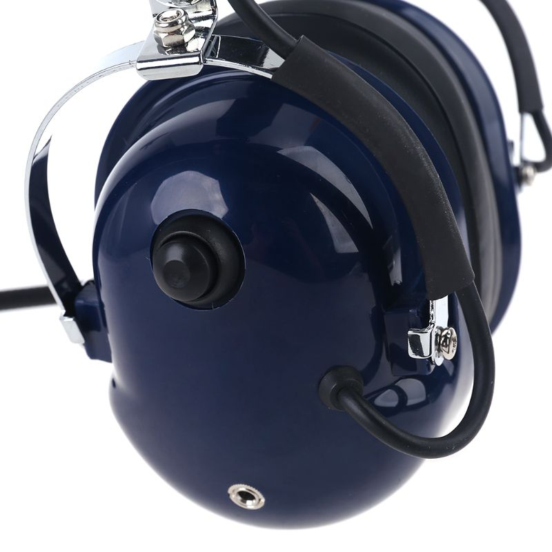 Aviation Pilot Headset with Plugs Stereo MP3 Music Noise Reduction Includes Headset Bag Gel Ear Seals Cloth Ear Covers enlarge