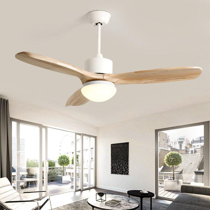 Moderna lâmina de madeira maciça ventilador de teto decorativo luzes led controle remoto ventilador de teto design clássico puro motor de cobre