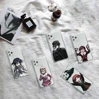 danganronpa v3 game killing harmony phone case transparent for iphone 7 8 11 12 se 2020 mini pro x xs xr max plus