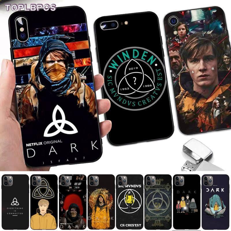 TOPLBPCS, los más vendidos, funda para teléfono móvil negra oscura netflix para iPhone 8 7 6 6S Plus X 5 5S SE 2020 XR 11 pro XS MAX