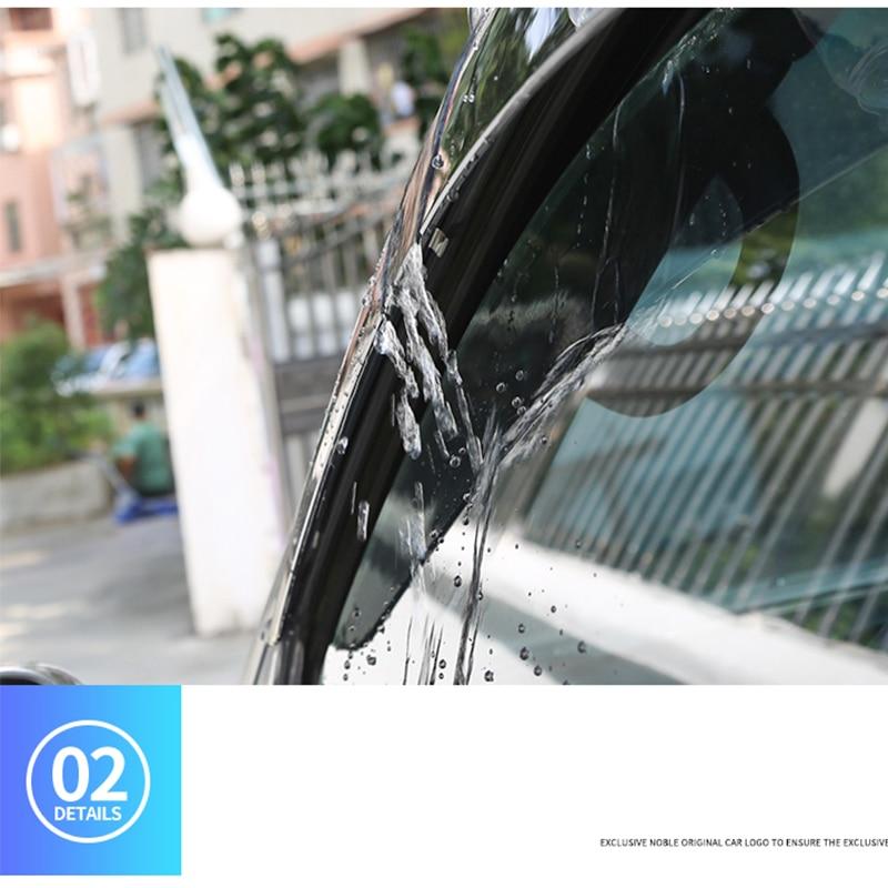 4 Pieces For Toyota Prado Car Window Rain Cover 2003~2009 Prado Windows Visor Thickened Rain Eyebrow Modification Accessories