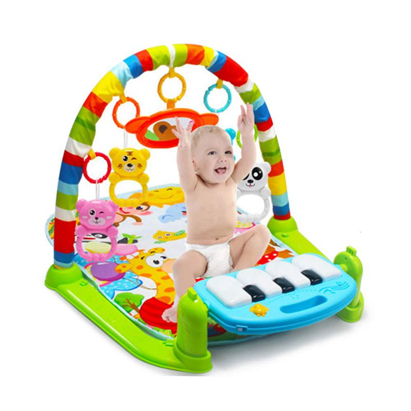 Baby Carpet Play Mat Music Puzzle Mat With Piano Keyboard Educational Rack Toys Infant Fitness Crawling Mat Gift For Kids Gym