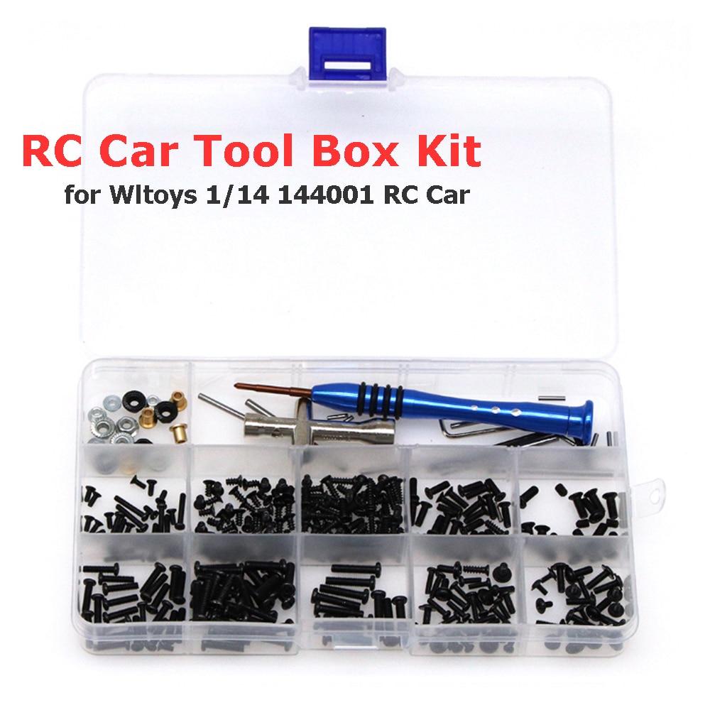 316 в 1 шт. винты Болт инструмент для ремонта коробки комплект коробка с винтами аппаратные средства крепежи для Wltoys 1/14 144001 RC автомобиль аксес...