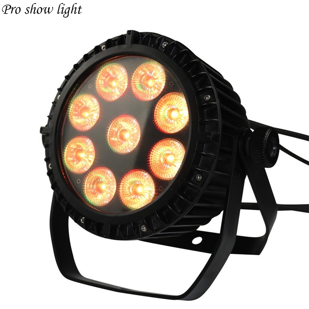 IP65 Waterproof LED Par Lights 9X18W RGBWA UV 6IN1 9X10W RGBW 4IN1 LED PAR DMX Control Stage DJ Equipment Dj Disco Wedding Light