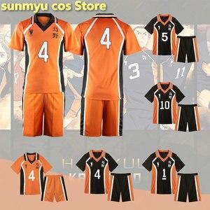 Anime Haikyuu Cosplay Costume Karasuno High School Volleyball Club Hinata Shyouyou Kageyama Tobio Sportswear Jersey Unifor