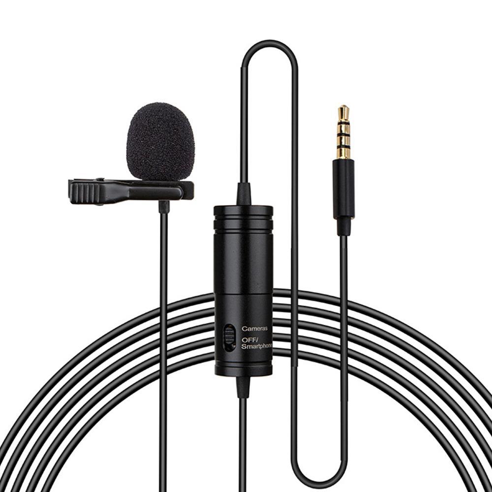 1Set Clip-on micrófono Lavalier Mini Audio 3,5mm cuello condensador micrófono de solapa