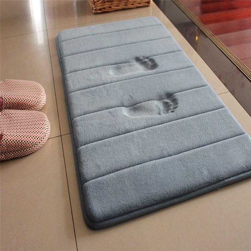 1 шт., 40x60 см, домашний коврик для ванной, нескользящий ковер для ванной комнаты, мягкий коралловый флисовый коврик с эффектом памяти, коврик для кухни, туалетный пол, Декор