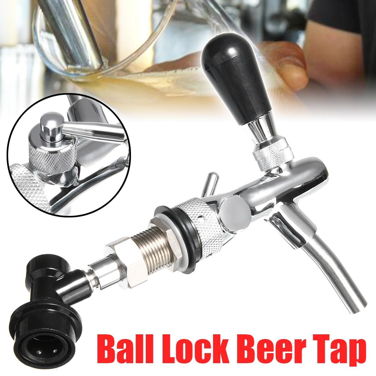 Grifo de acero inoxidable ajustable para grifo de cerveza con herramienta de barra de tubo de bloqueo de bola