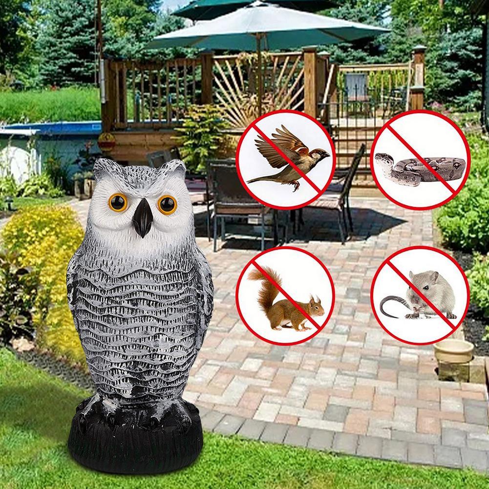 Отпугиватель птиц в виде совы, искусственная статуя в виде совы, искусственная птица, подвеска, защита двора, уличная статуя в виде совы для ...