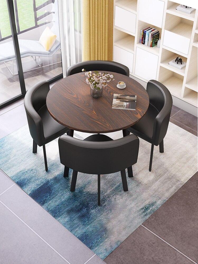 الحد الأدنى منضدة طعام حديثة مجموعة 4 كراسي الاستقبال التفاوض طاولات القهوة أثاث غرفة المعيشة طاولة المطبخ الكراسي