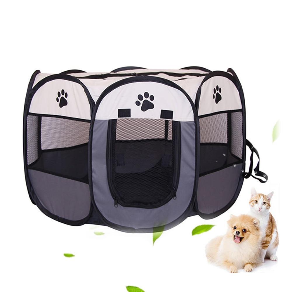 Tela transpirable para mascotas, jaula para juego, tienda para cachorros, gatos, perros, conejos, cerdos, valla plegable, protección segura, Red de aislamiento de separación para mascotas
