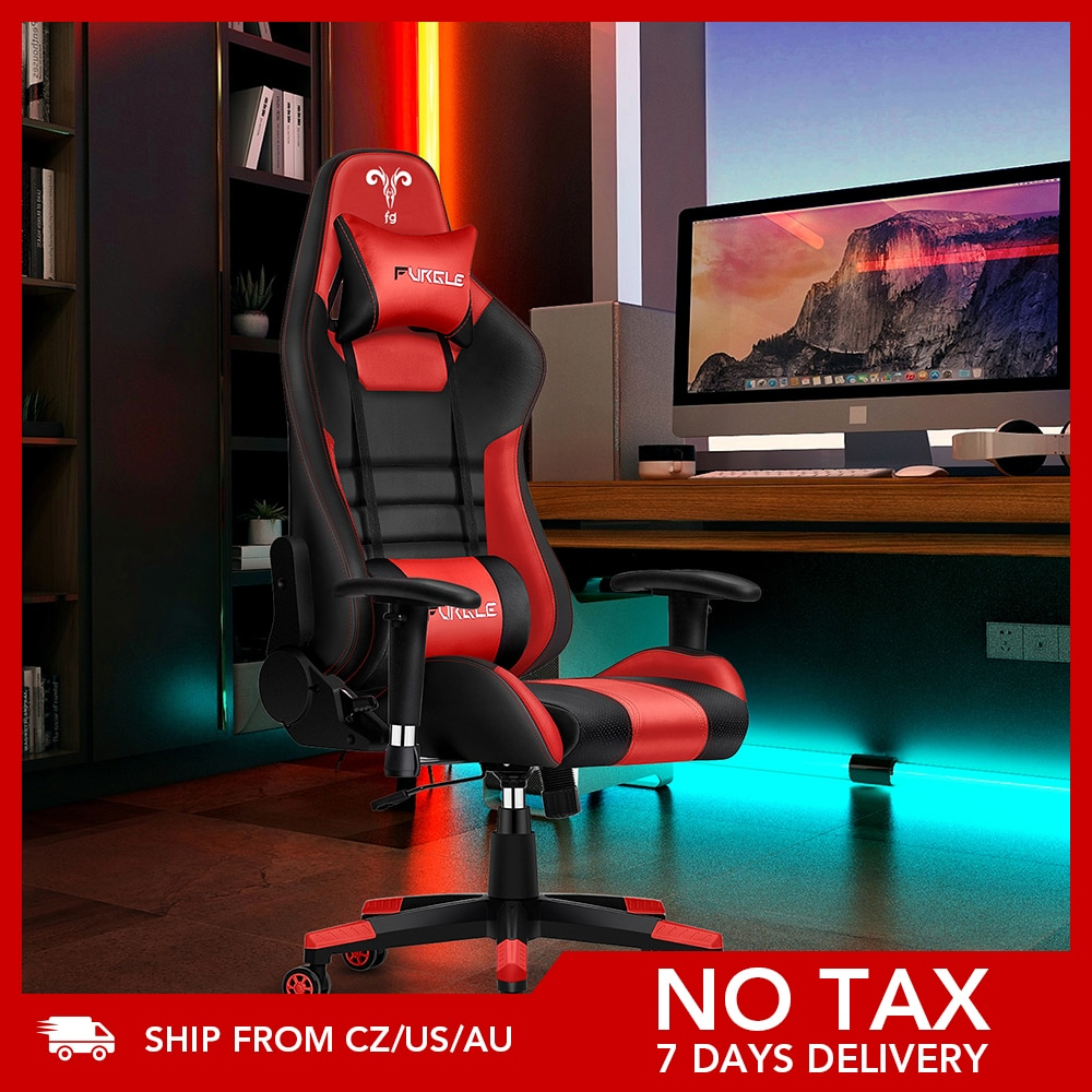 AliExpress - Furgle Gaming Office Chairs 180 Degree Reclining Computer Chair Comfortable Executive Computer Seating Racer Recliner PU Leather