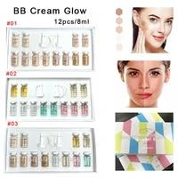 12pcs 8ml korean cosmetics stayve bb cream glow starter kit meso white brightening anti aging serum long lasting whitening cream