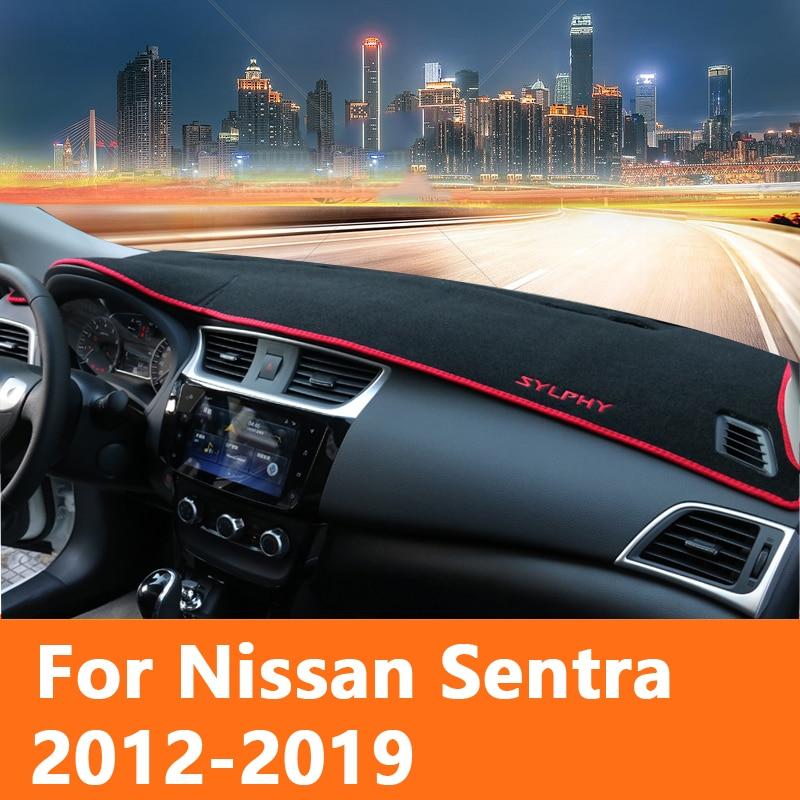 Car dashboard Avoid light pad Instrument platform desk cover Mat Carpet Trim LHD For Nissan Sentra 2014 2015 2016 2017 2018 2019