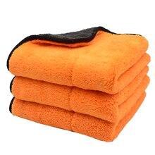 3 шт., плюшевые полотенца из микрофибры, 45 х38 см, 800 г/м2