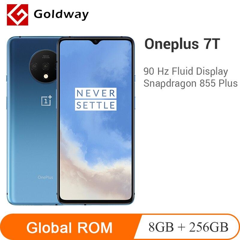 "Oneplus 7 t 8 gb 256 gb snapdragon 855 plus octa núcleo do telefone móvel 6.55 ""display 48mp triplo câmera nfc warp carga 30 t smartphone"
