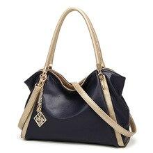 Luxury new handbags PU leather fashion commuter bag ladies handbag large-capacity contrast color mes