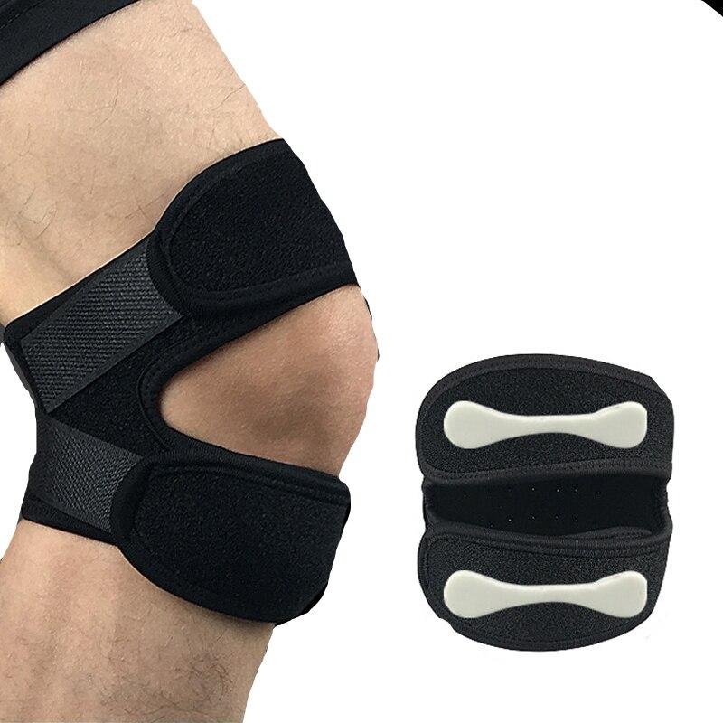 1 Uds soporte de rodilla ajustable rodillera rótula manga gorro envolvente estabilizador deportes rodilla protección transpirable cinturón de rótula