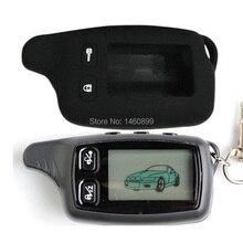 TW9030 TW9020 LCD 원격 제어 키 + 러시아에 대 한 실리콘 케이스 TW 9030 9020 양방향 자동차 알람 토마 호크 TW-9030 TW-9020 키 체인