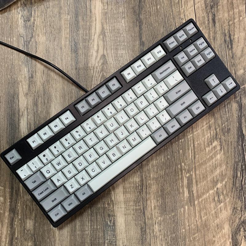 Игровая механическая клавиатура, 87 клавиш Светодиодный ная подсветка, механическая клавиатура с подсветкой, горячая Распродажа, с синими п...