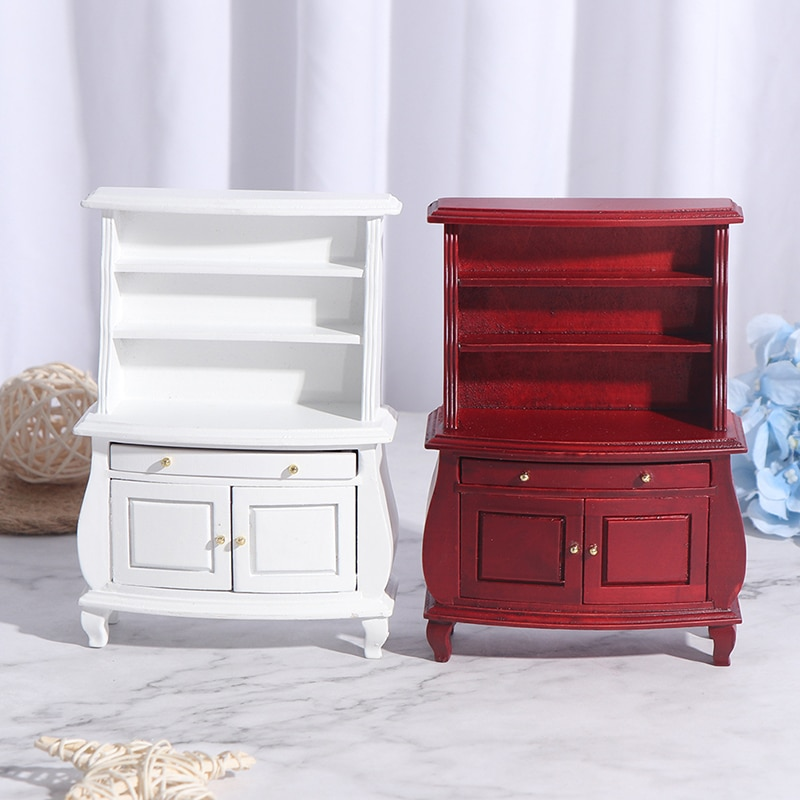 1/12 armários de armário de cozinha em miniatura com gaveta móveis de casa de bonecas acessórios de móveis de armário de brinquedo