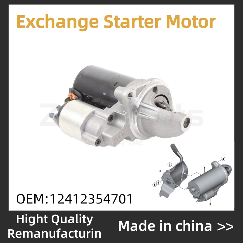 Troca de Motor de Arranque Para BMW E25 E30 E60 E66 E70 E81 E82 E85 E87 E88 E90 E93 F01 F02 F07 F10 F11 F20 12412354701 12417616500