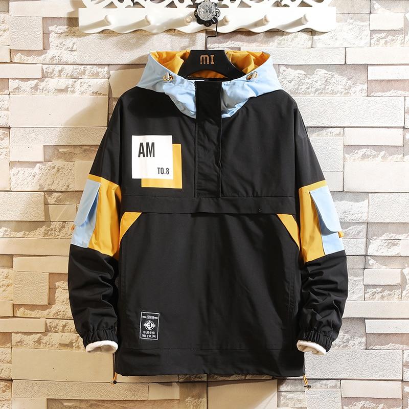 JANPAN-سترة للربيع والخريف جيب أكبر مفجر ملابس الشارع الشهير الآسيوية M-5XL كبير أسود أبيض 2021