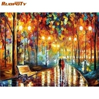 ruopoty full square diamond painting rhinestone round 5d diamond embroidery landscape handcraft home decoration gift