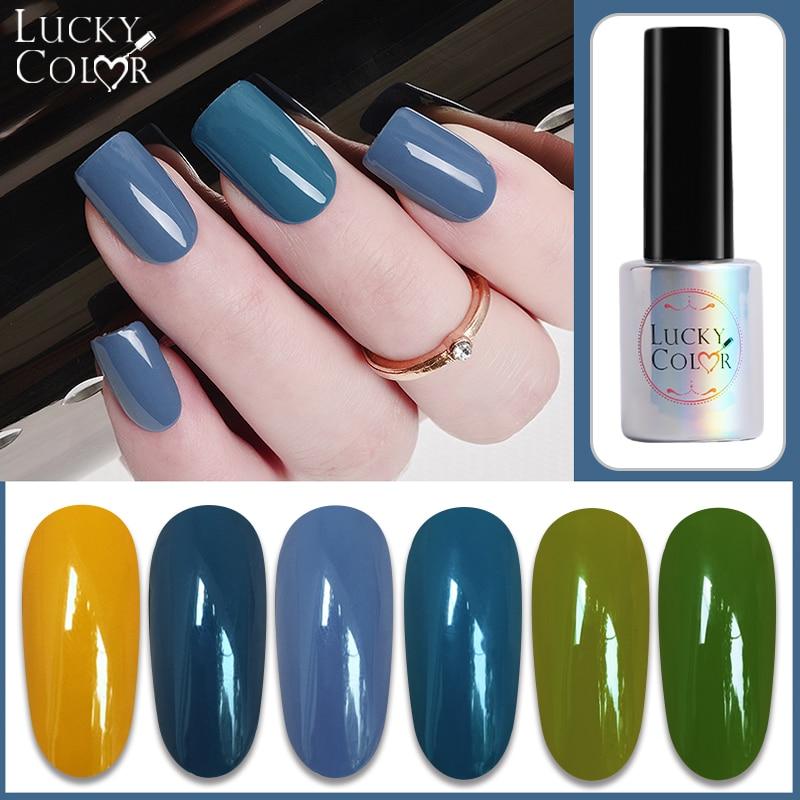 Nail Art Gel Hybrid Multi-colored Smog Blue Nail Color UV LED Gel Nail Polish Long-lasting Macaron Soak off UV Gel 10ML Lacquer