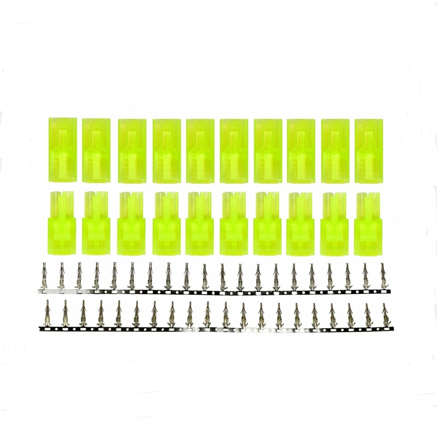 5/10 Pairs Mini Tamiya Style Battery Connectors Plugs  Male And Female Plug Sets with Nickle Pins fo