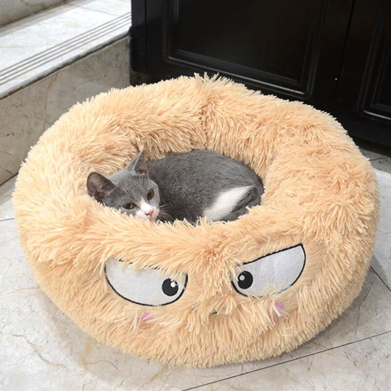 2019 mascota de peluche Donut Cuddler perros cama de gatos dibujos animados cálido suave espesado almohadilla para dormir P666
