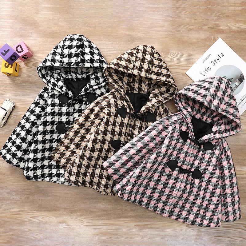 جديد لعام 2021 معطف صوفي بناتي للأطفال سماكة وقطن عباءة للرضع بتصميم كوري سترة واقية