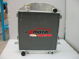 3 Row Aluminum Radiator For MODEL-T-BUCKET FORD ENGINE AT AUTO 1924 1925 1926 1927