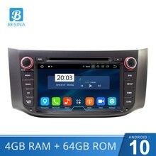 Lecteur DVD de voiture Besina Android 10.0 pour Nissan Sylphy Sentra 2012-2016 Pulsar multimédia GPS Navi WIFI 2 Din autoradio 64G stéréo