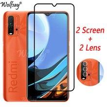 ฝาครอบกาวกระจกนิรภัยสำหรับ Xiaomi Redmi 9 T สำหรับ Redmi 9 T สำหรับ Redmi 9 T 9 T แก้ว6.53นิ้ว