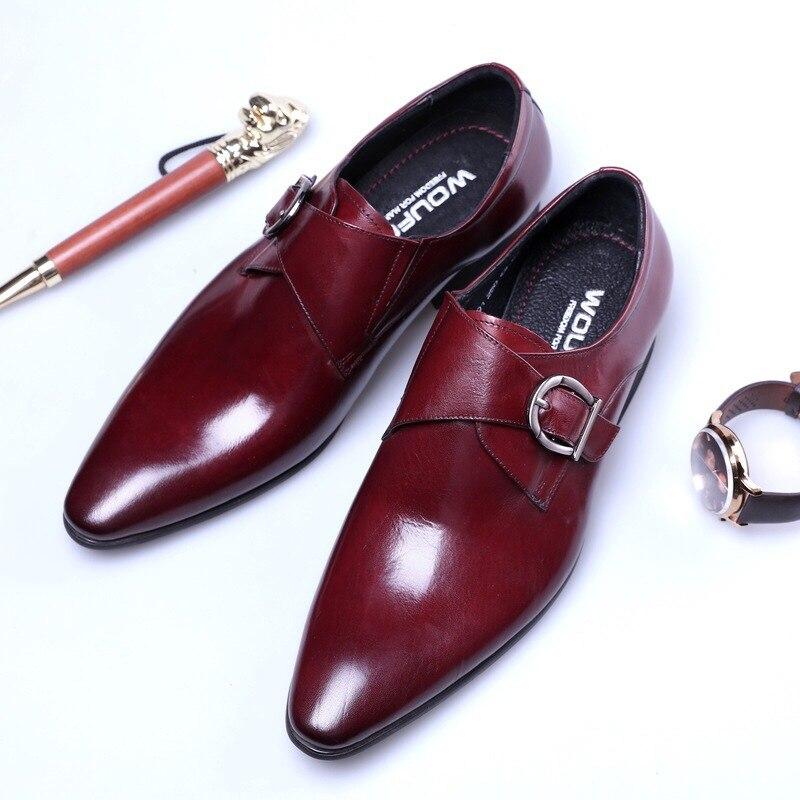 Masculinos de Luxo Sapatos para Homem Terno dos Homens Sapatos Couro Patnet Monge Cinta Oxford Casamento Negócios Formal Vestido Preto Marrom 2021