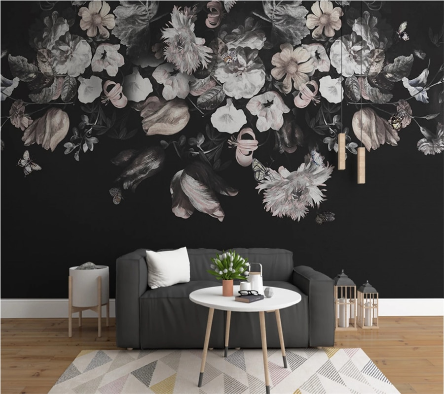 xuesu Customized 3d photo wallpaper mural European retro nostalgic hand-painted flower TV background wall wall covering professional 10x20ft hand painted column arch scenic muslin photo backdrop background customized service size photos
