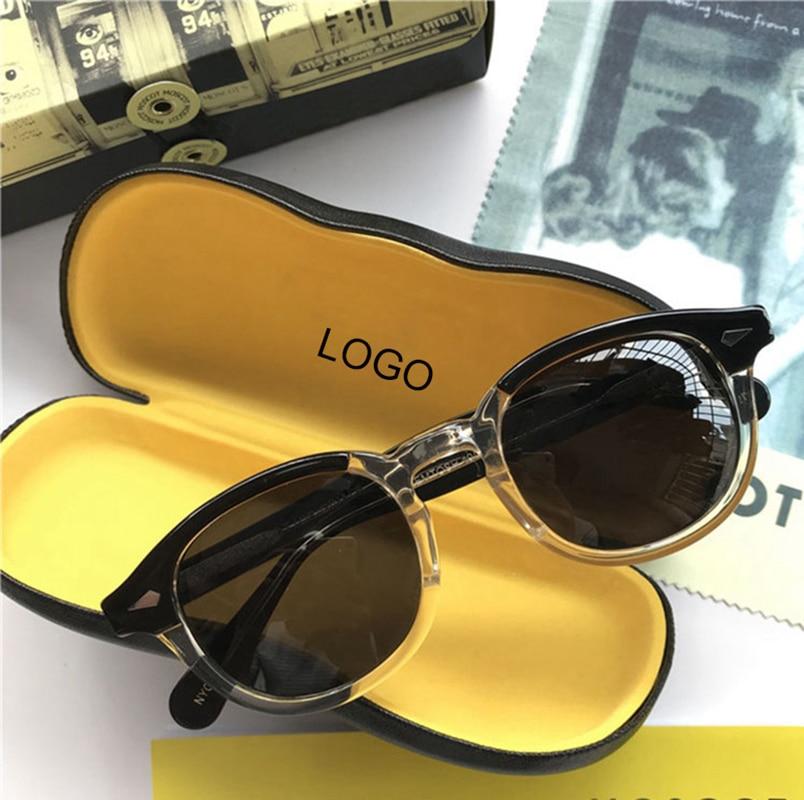 Lemtosh, солнцезащитные очки, поляризационные линзы, для мужчин и женщин, Johnny Depp, солнцезащитные очки, люксовый бренд, винтажные ацетатные очки, оправа, высокое качество, 008