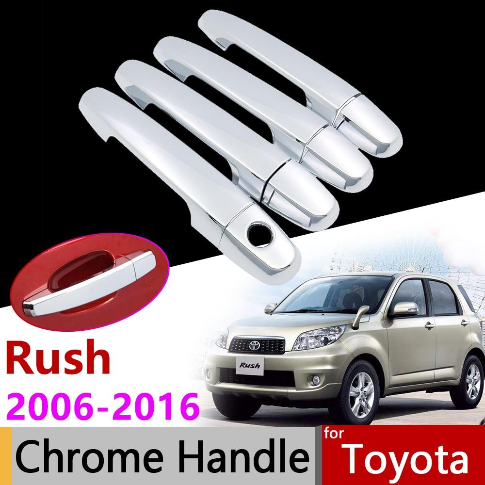 Exterior del coche accesorios puerta cromada para Toyota Rush 2006 ~ 2016, 2007, 2008, 2010, 2012, 2014, 2015 Trim Set de pegatinas